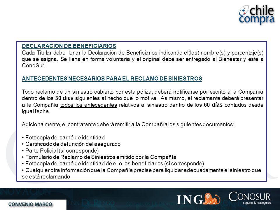 DECLARACION DE BENEFICIARIOS