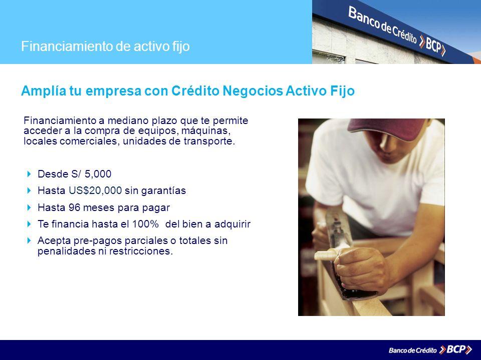Financiamiento de activo fijo