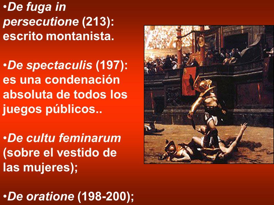De fuga in persecutione (213): escrito montanista.