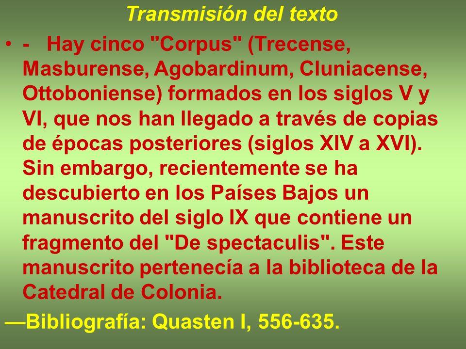 Transmisión del texto
