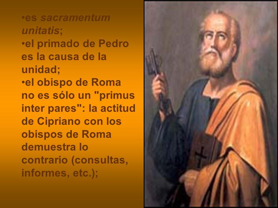 es sacramentum unitatis;