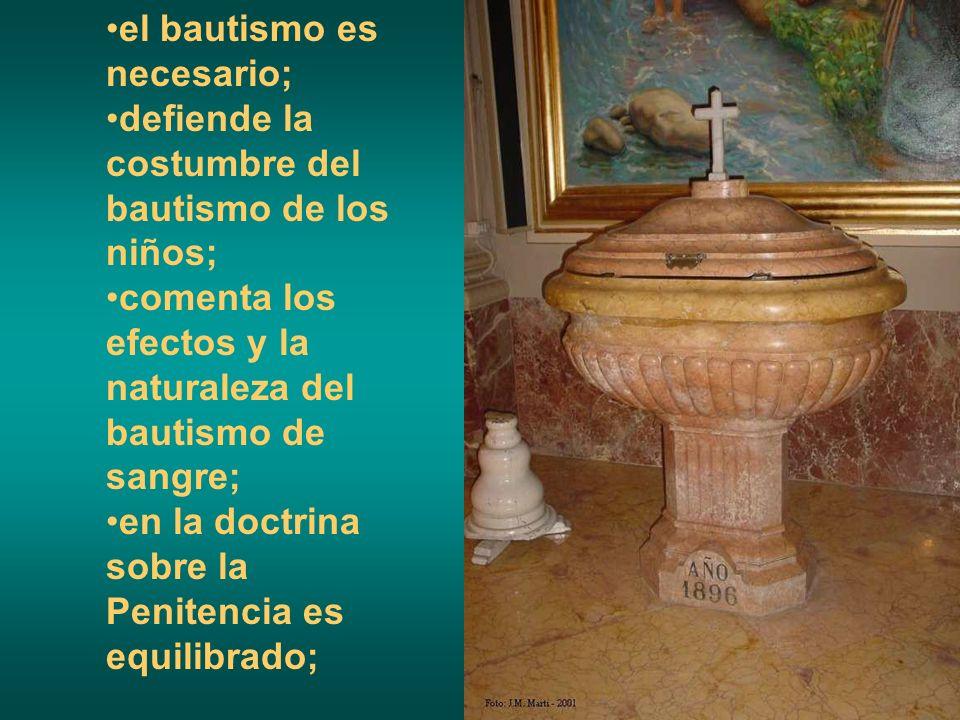 el bautismo es necesario;