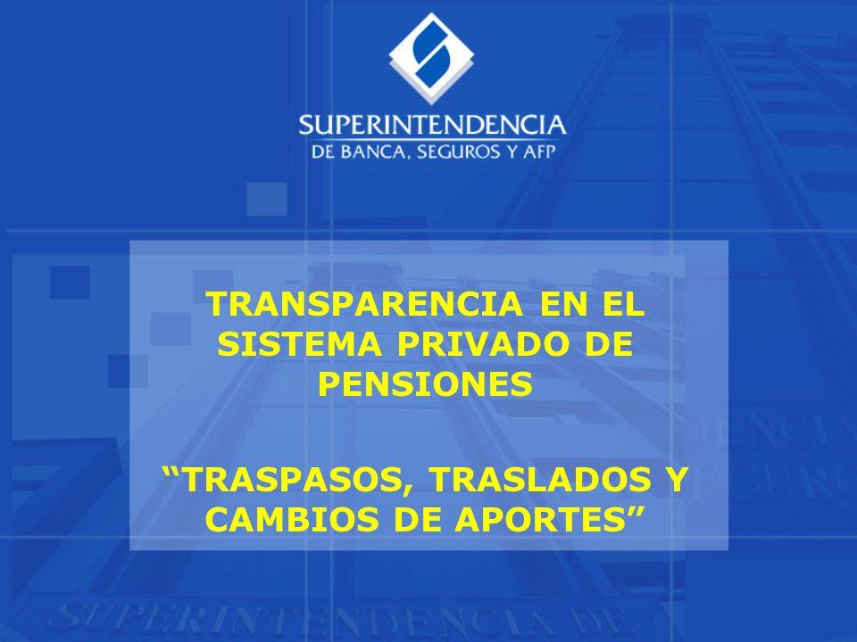 TRANSPARENCIA EN EL SISTEMA PRIVADO DE PENSIONES