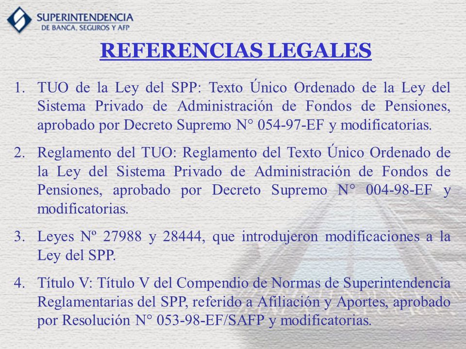 REFERENCIAS LEGALES