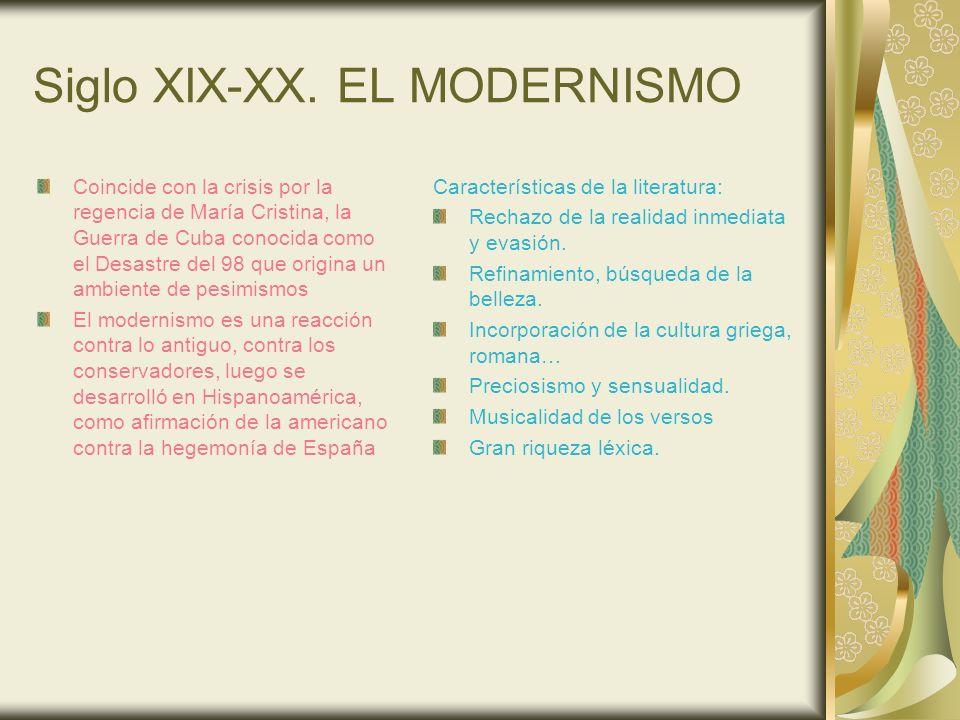 Siglo XIX-XX. EL MODERNISMO