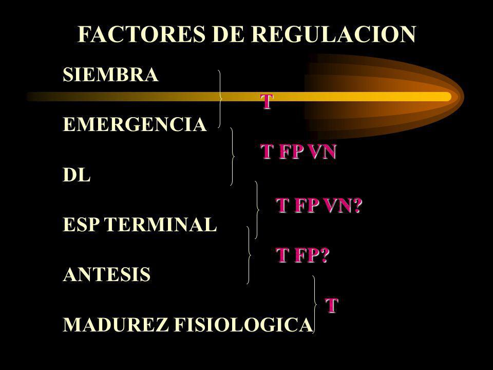 FACTORES DE REGULACION