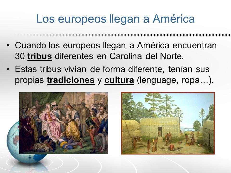 Los europeos llegan a América