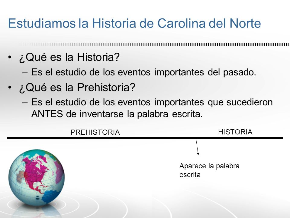 Estudiamos la Historia de Carolina del Norte