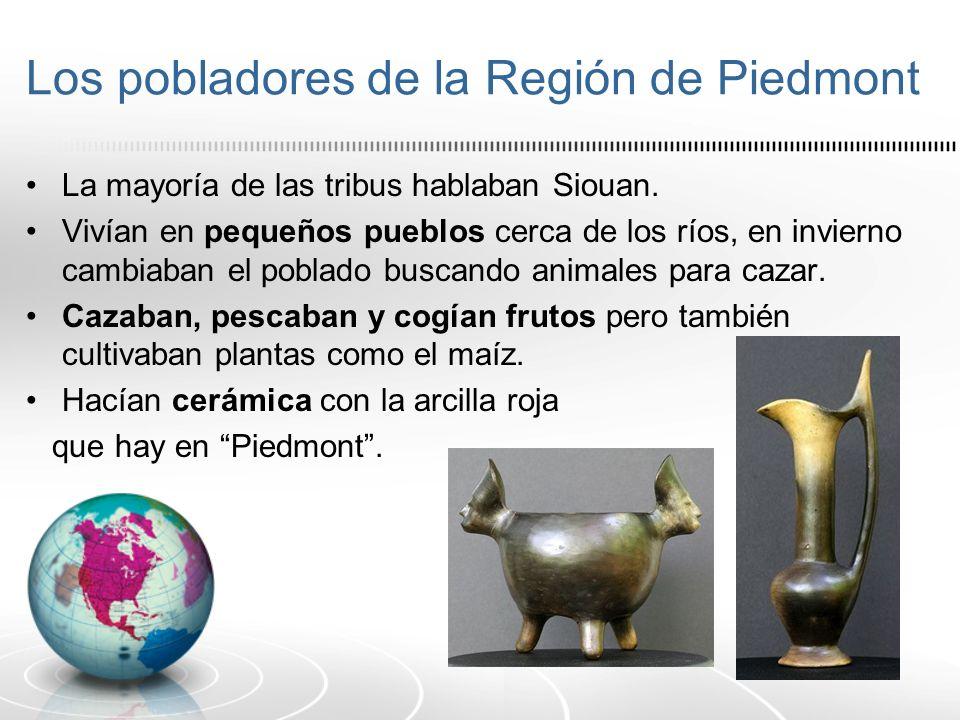 Los pobladores de la Región de Piedmont