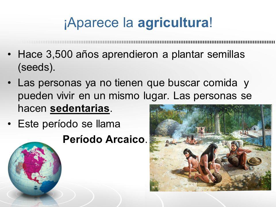 ¡Aparece la agricultura!