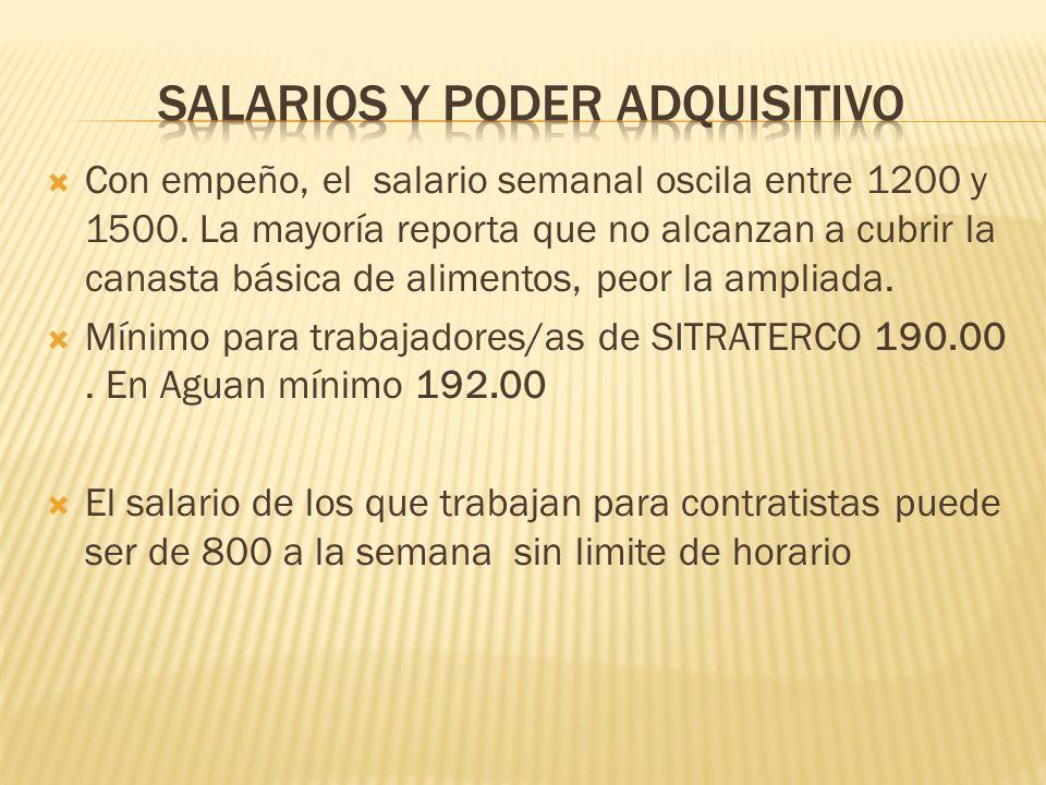 Salarios y poder adquisitivo
