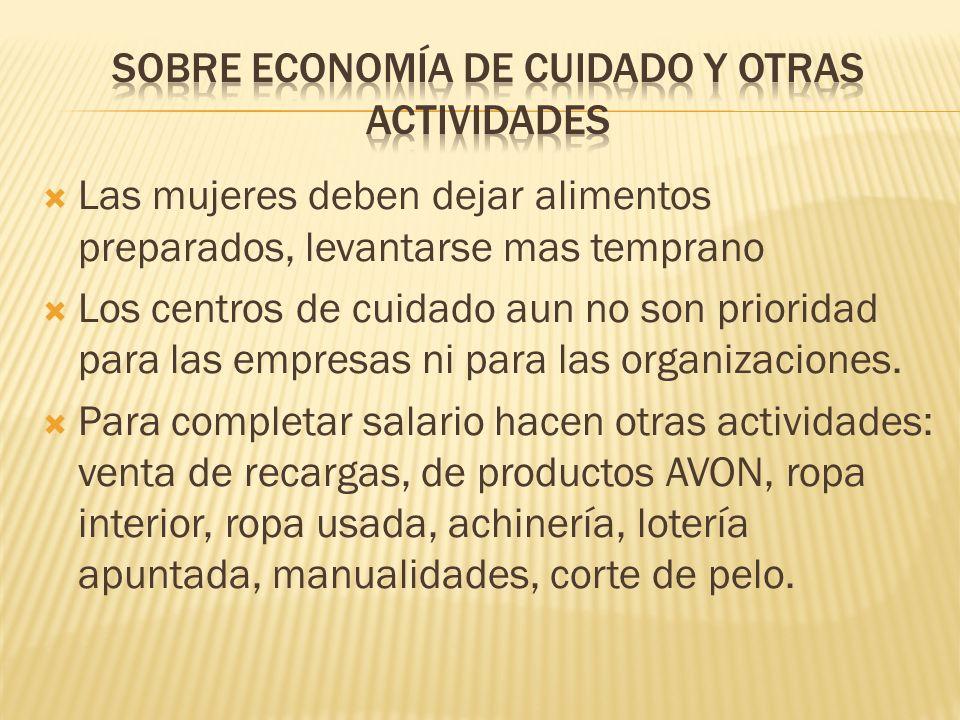 Sobre economía de cuidado y otras actividades