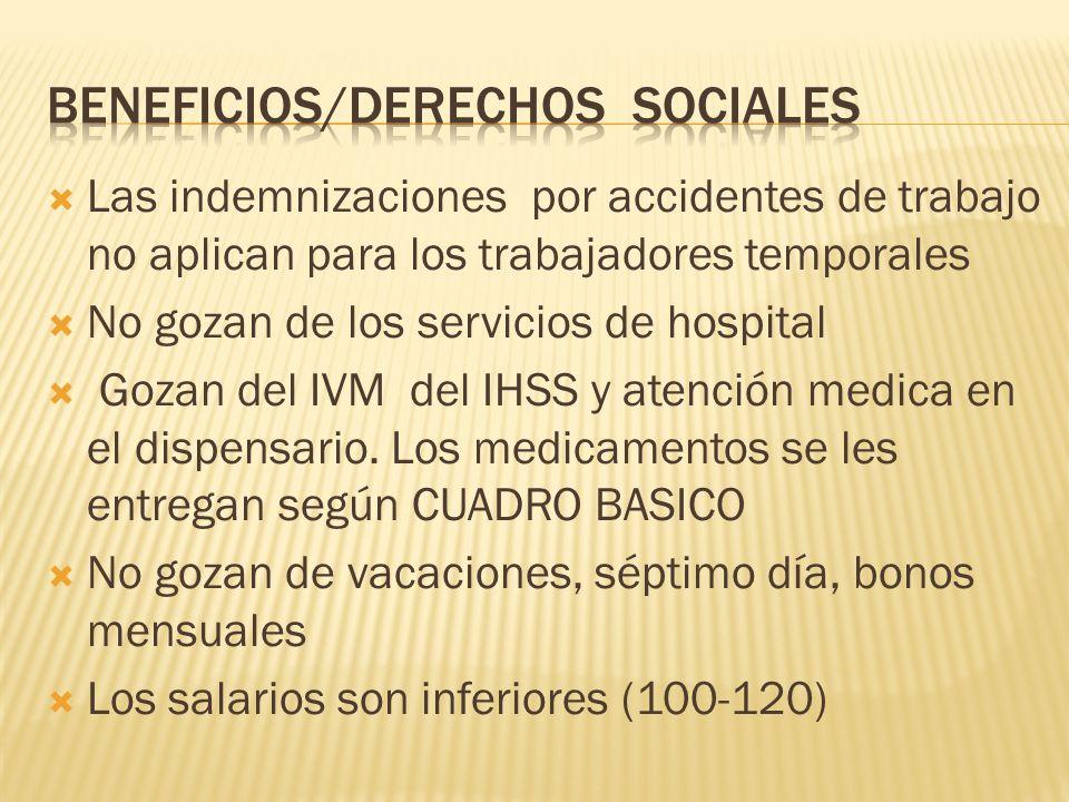 Beneficios/Derechos sociales