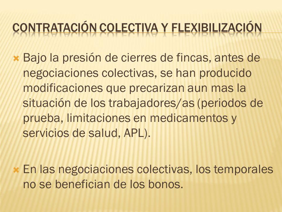 Contratación colectiva y flexibilización