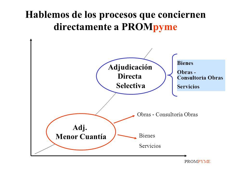 Hablemos de los procesos que conciernen directamente a PROMpyme
