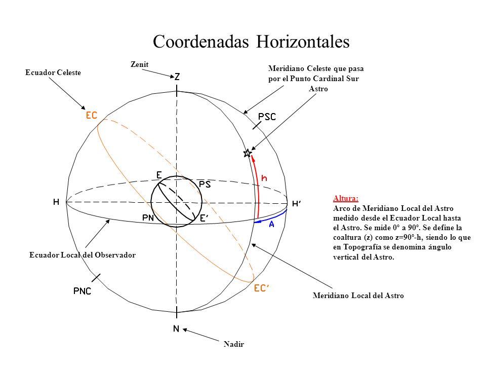 Coordenadas Horizontales