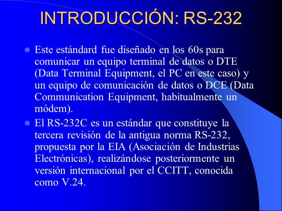 INTRODUCCIÓN: RS-232