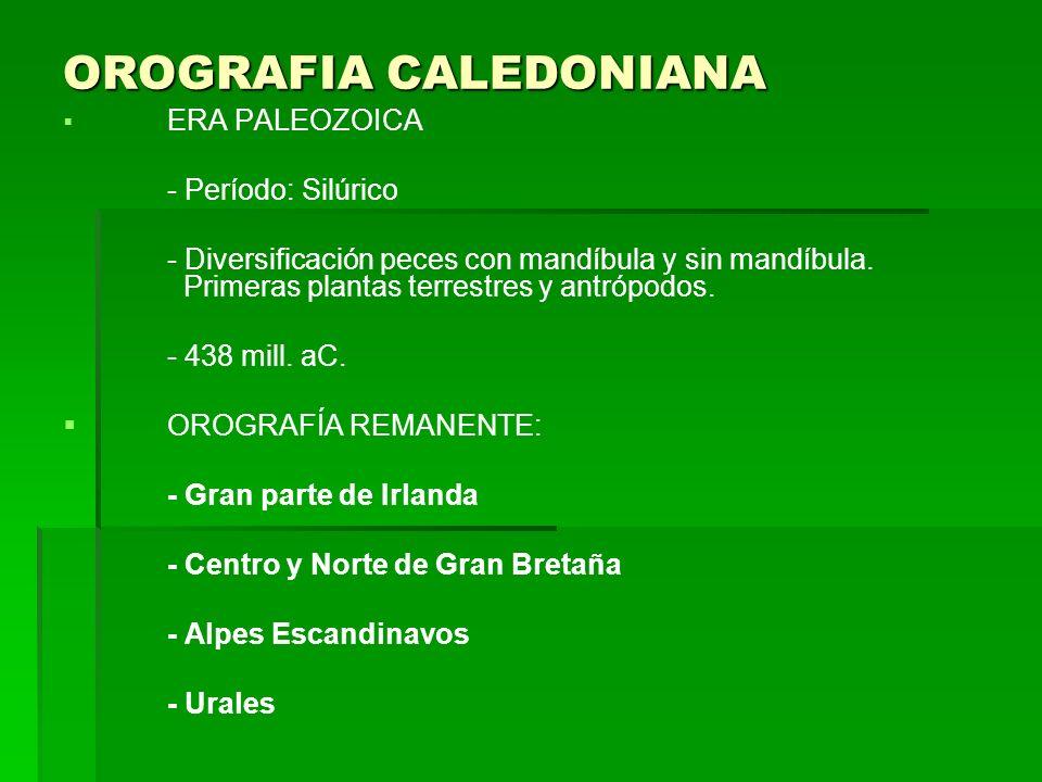 OROGRAFIA CALEDONIANA
