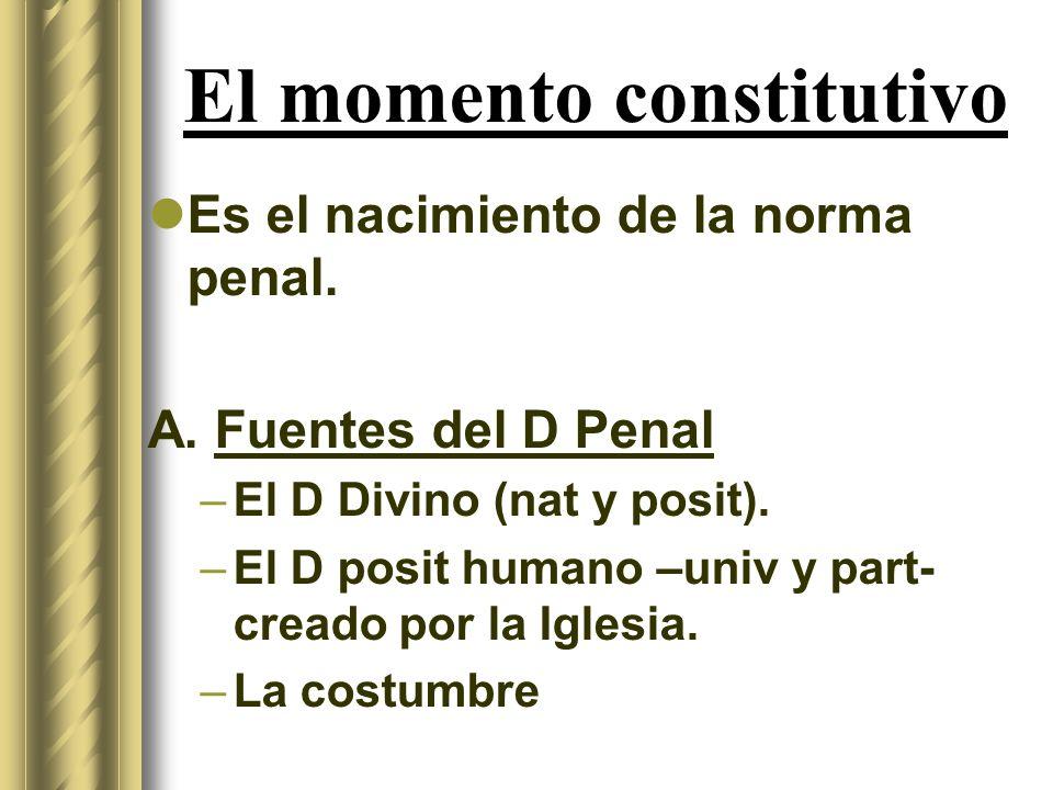 El momento constitutivo