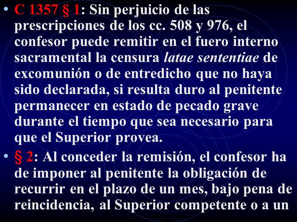 C 1357 § 1: Sin perjuicio de las prescripciones de los cc