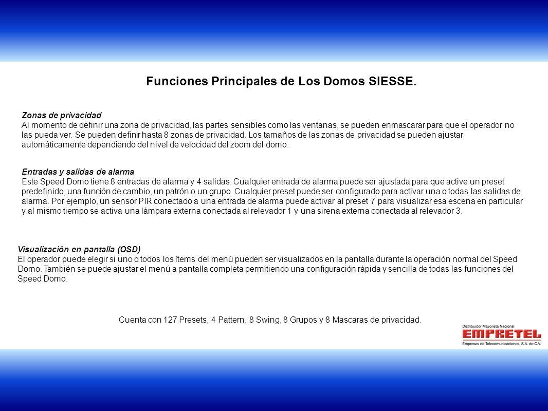 Funciones Principales de Los Domos SIESSE.