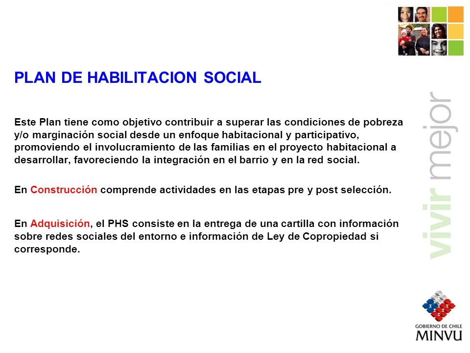 PLAN DE HABILITACION SOCIAL
