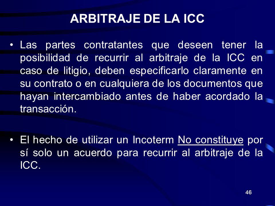 ARBITRAJE DE LA ICC