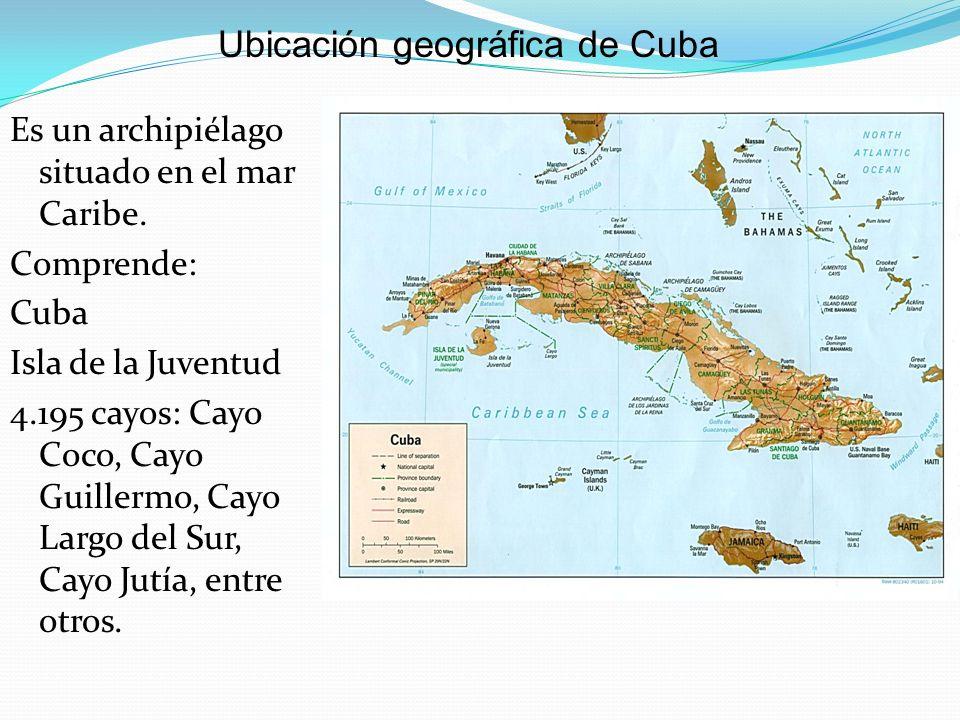 Ubicación geográfica de Cuba