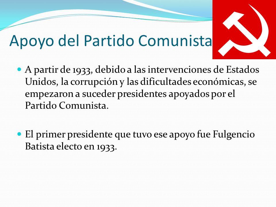 Apoyo del Partido Comunista