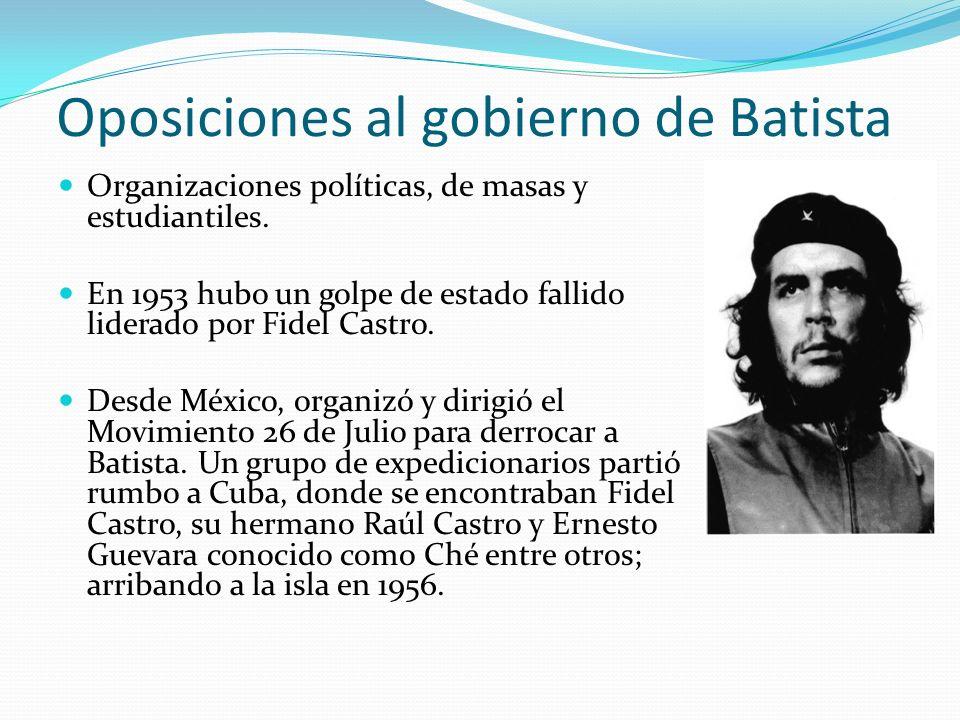 Oposiciones al gobierno de Batista