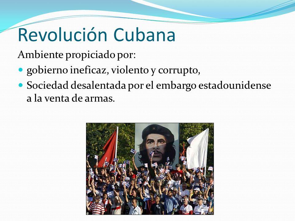 Revolución Cubana Ambiente propiciado por: