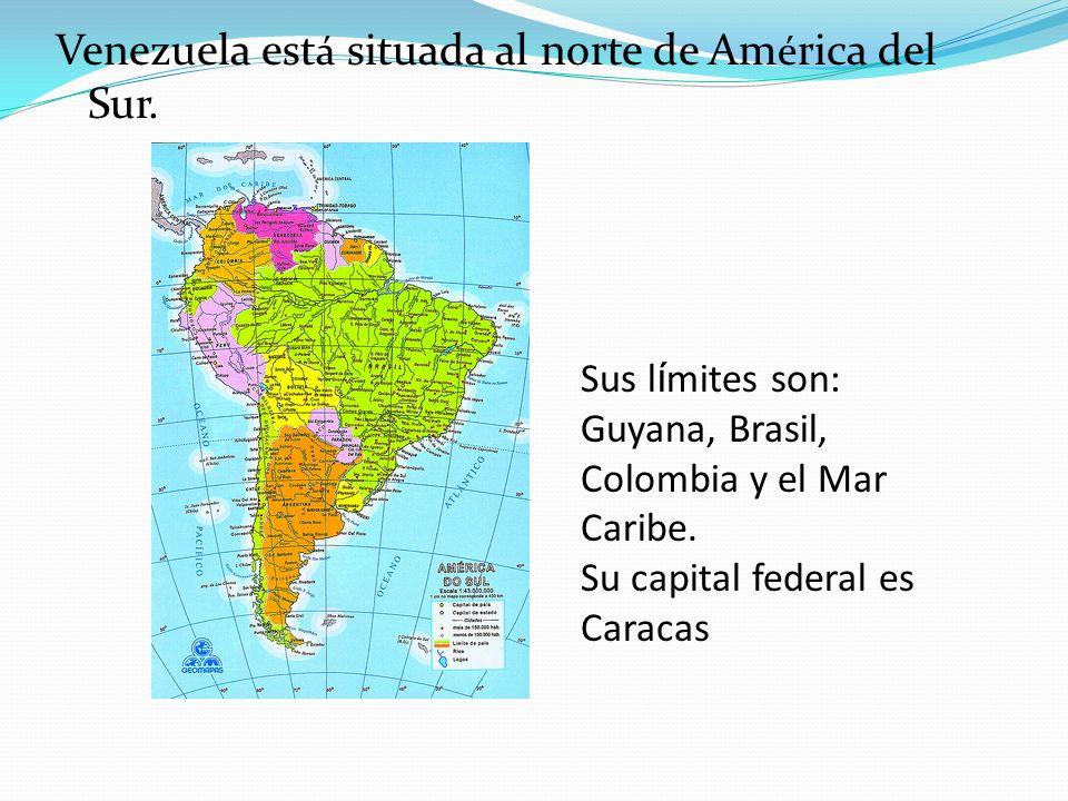 Venezuela está situada al norte de América del Sur.