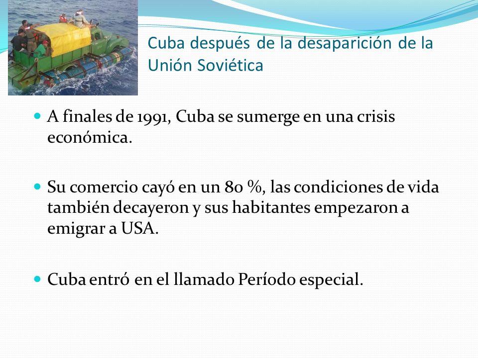 Cuba después de la desaparición de la Unión Soviética
