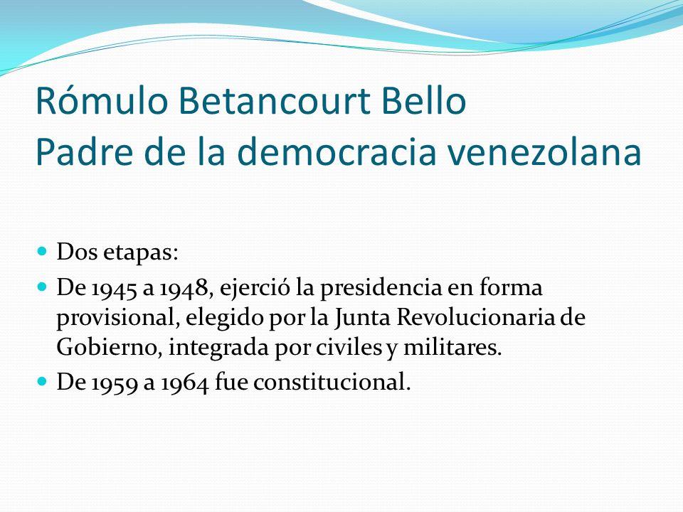 Rómulo Betancourt Bello Padre de la democracia venezolana
