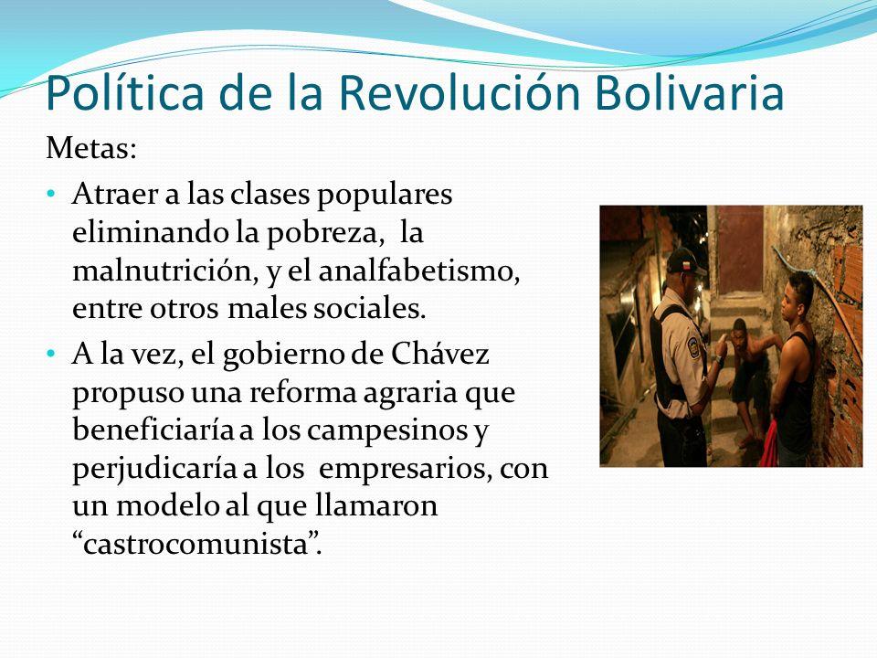 Política de la Revolución Bolivaria