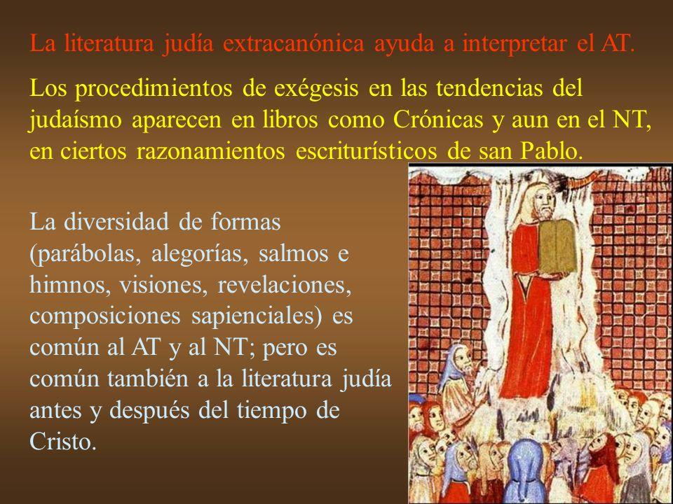 La literatura judía extracanónica ayuda a interpretar el AT.