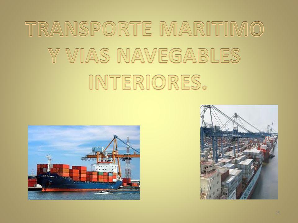 TRANSPORTE MARITIMO Y VIAS NAVEGABLES INTERIORES.