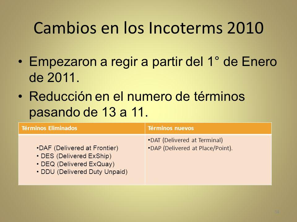 Cambios en los Incoterms 2010