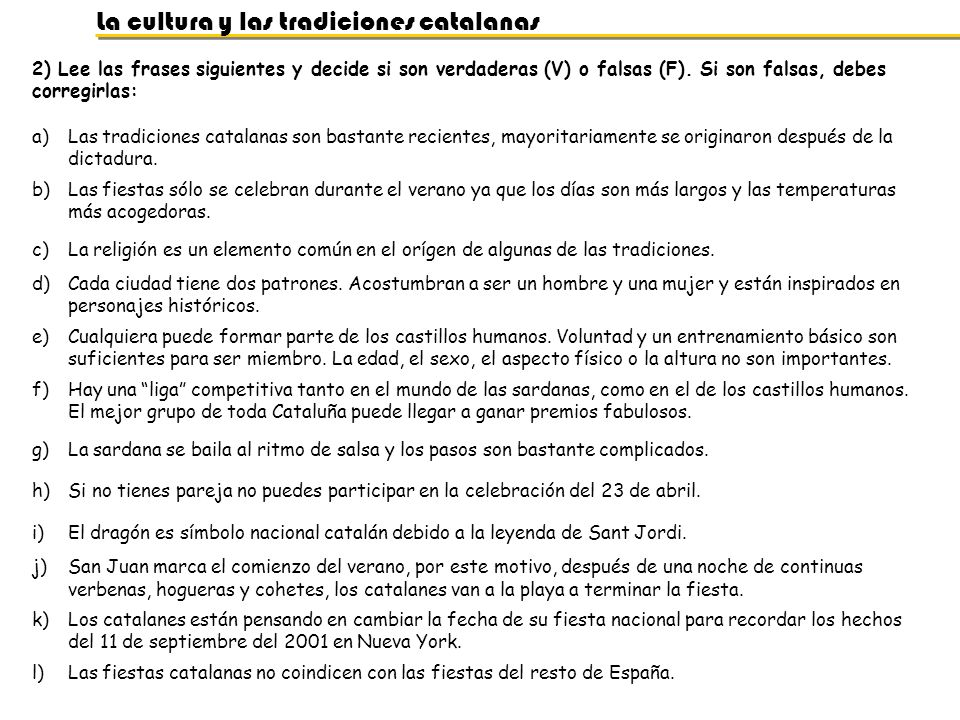 La cultura y las tradiciones catalanas