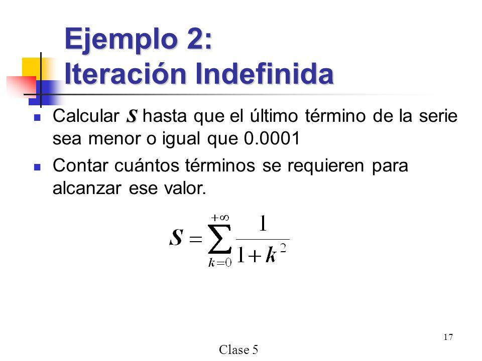 Ejemplo 2: Iteración Indefinida