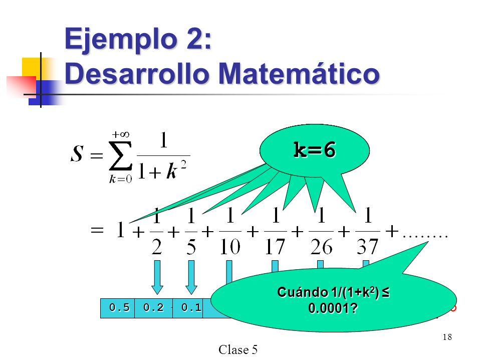 Desarrollo Matemático