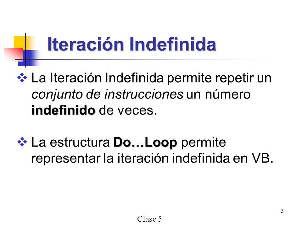 Iteración Indefinida La Iteración Indefinida permite repetir un conjunto de instrucciones un número indefinido de veces.