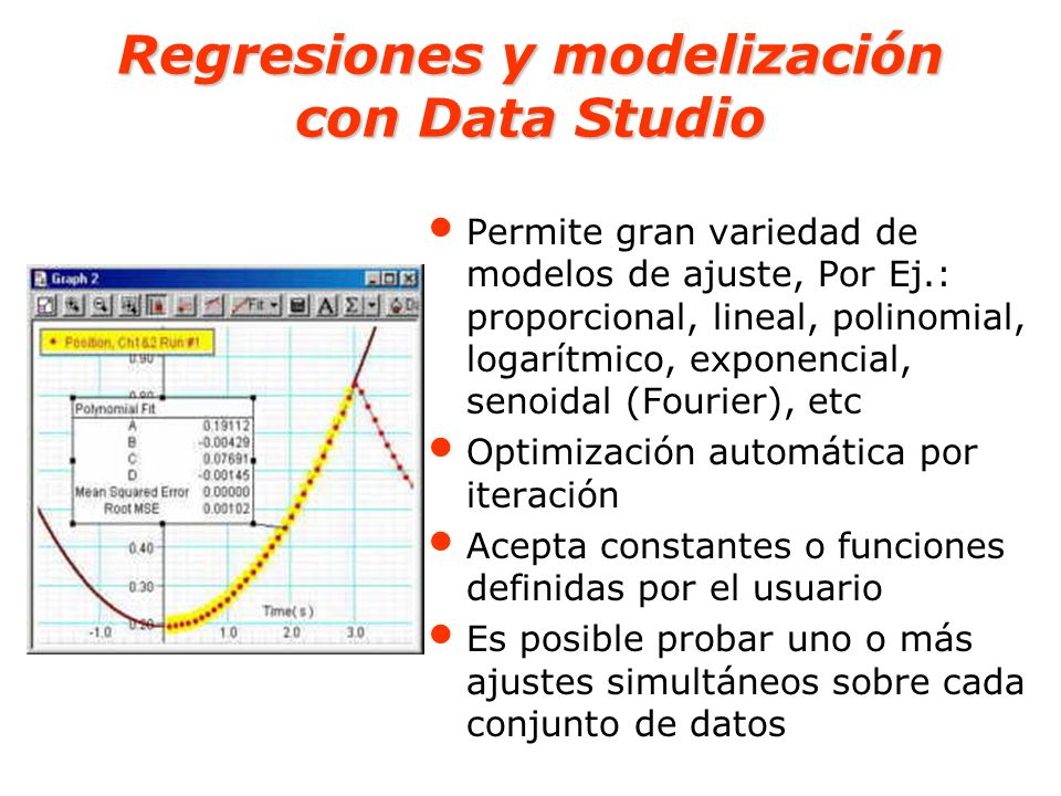 Regresiones y modelización con Data Studio