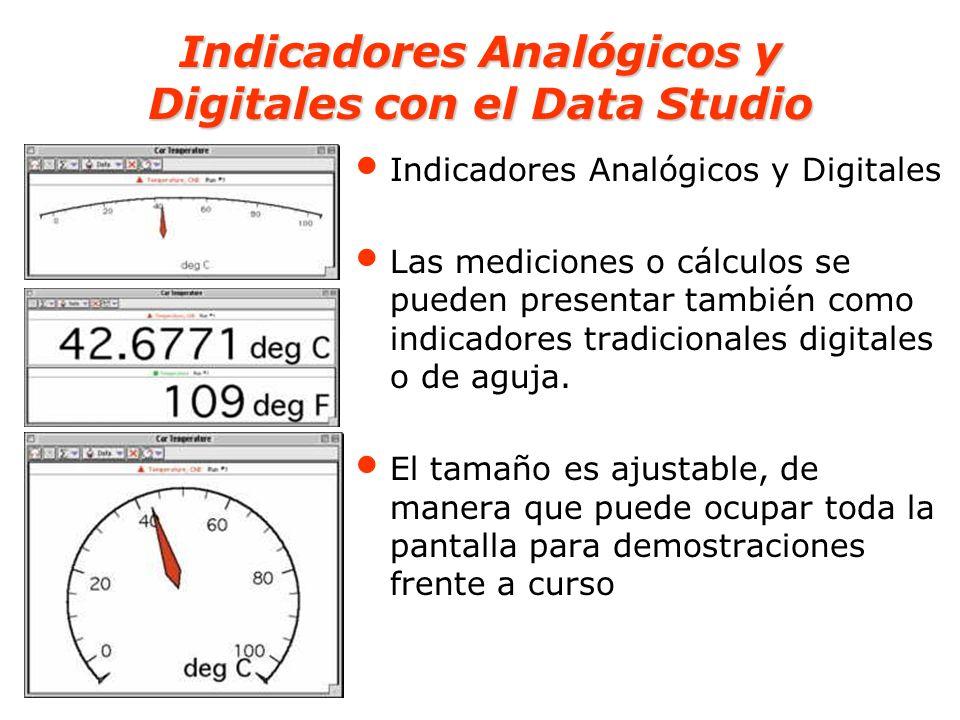 Indicadores Analógicos y Digitales con el Data Studio