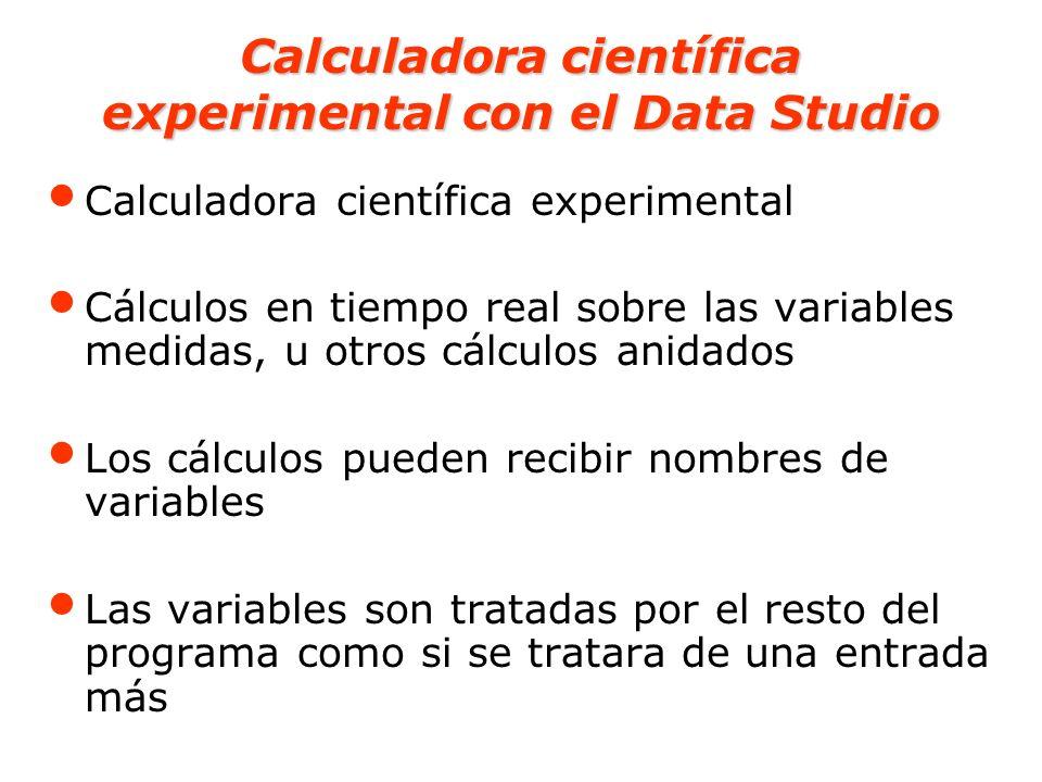 Calculadora científica experimental con el Data Studio