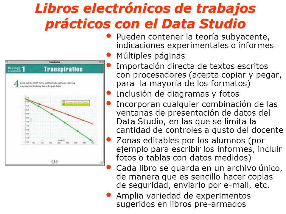 Libros electrónicos de trabajos prácticos con el Data Studio