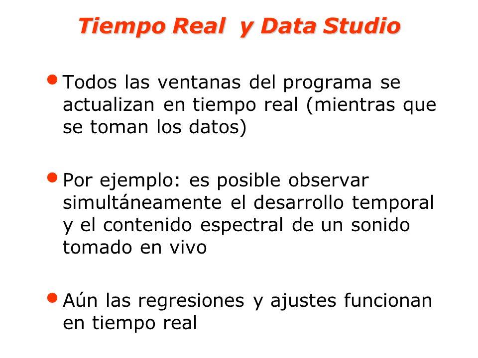 Tiempo Real y Data Studio