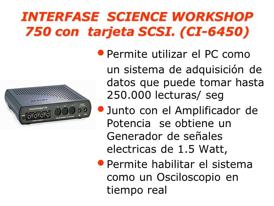INTERFASE SCIENCE WORKSHOP 750 con tarjeta SCSI. (CI-6450)
