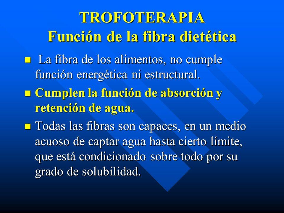 TROFOTERAPIA Función de la fibra dietética