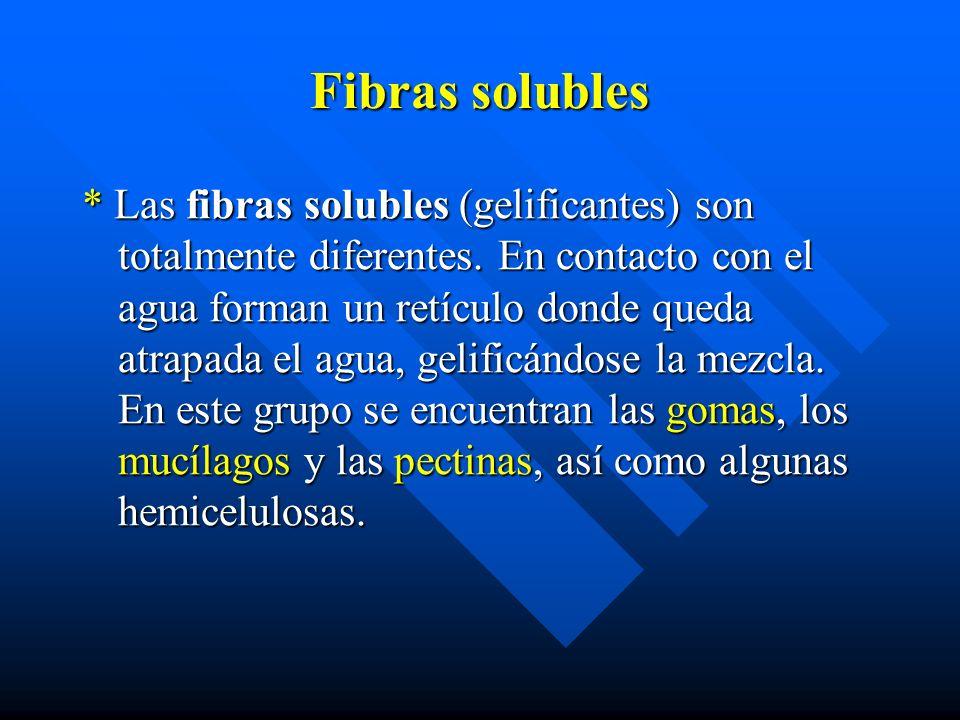 Fibras solubles